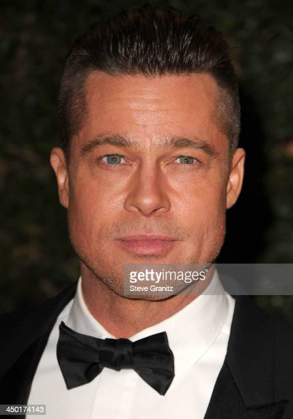 Brad Pitt arrives at the The Board Of Governors Of The Academy Of Motion Picture Arts And Sciences' Governor Awards at Dolby Theatre on November 16...