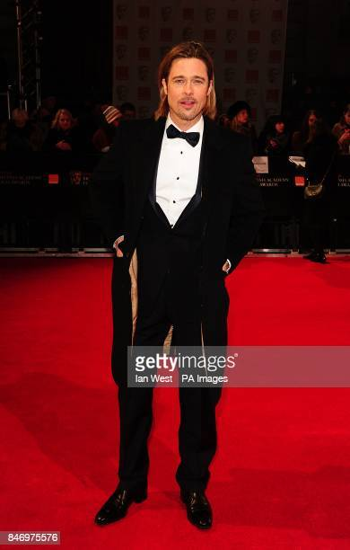 Brad Pitt arriving for the 2012 Orange British Academy Film Awards at the Royal Opera House, Bow Street, London.
