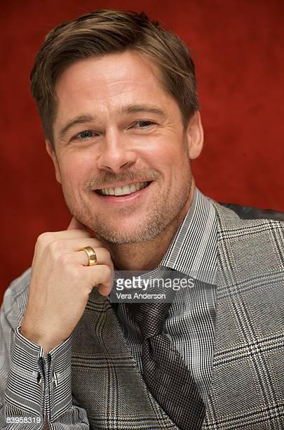 Brad Pitt at The Curious Case of Benjamin Button press conference at Warner Bros Studios on December 6 2008 in Burbank California