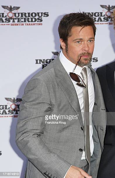 Brad Pitt at the Inglourious Basterds premiere in the theater at Potsdamer Platz in Berlin