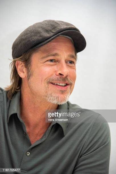Brad Pitt at the Once Upon A Time In Hollywood Press Conference at the Four Seasons Hotel on July 12 2019 in Beverly Hills California