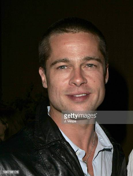 Brad Pitt attend the Palisades Pictures screening of Going Upriver The Long War of John Kerry to kick off its college tour and DVD release Oct 19...