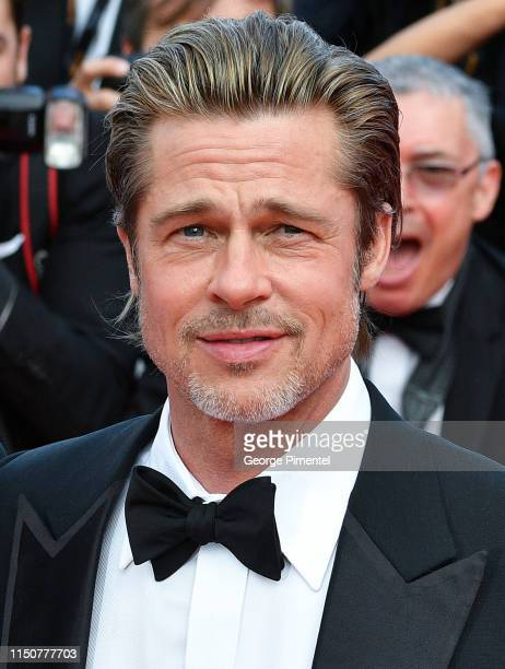 """Brad Pitt attend the screening of """"Once Upon A Time In Hollywood"""" during the 72nd annual Cannes Film Festival on May 21, 2019 in Cannes, France."""