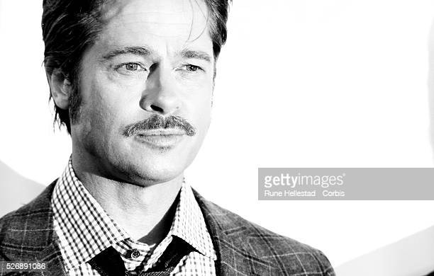 Brad Pitt attends a photo call for Fury at the 58th London Film Festival at the Corinthia Hotel