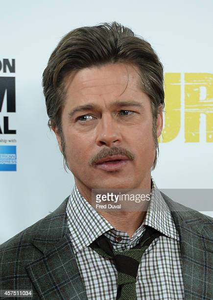 Brad Pitt attends a photocall for Fury during the 58th BFI London Film Festival at Corinthia Hotel London on October 19 2014 in London England