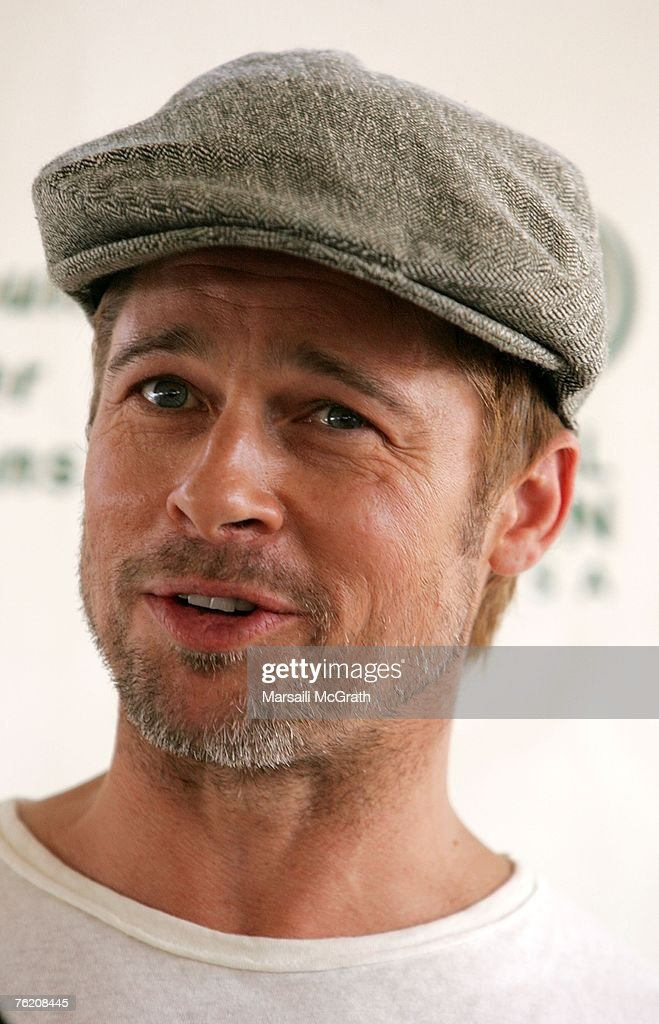 Global Green USA Press Conference With Brad Pitt Discussing House Project : News Photo