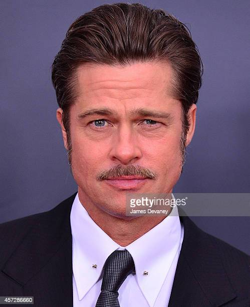 Brad Pitt attends Fury Washington DC Premiere at The Newseum on October 15 2014 in Washington DC