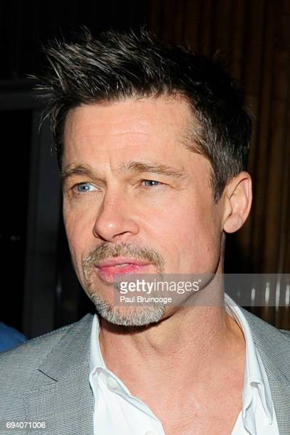 Brad Pitt attends Netflix hosts the after party for Okja at AMC Lincoln Square Theater on June 8 2017 in New York City