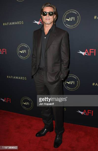 Brad Pitt attends the 20th Annual AFI Awards at Four Seasons Hotel Los Angeles at Beverly Hills on January 03 2020 in Los Angeles California