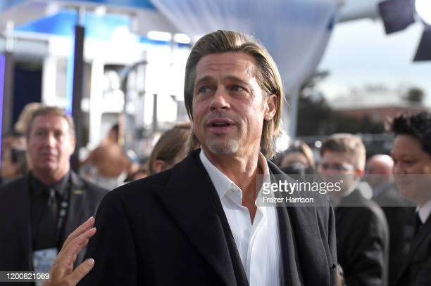 Brad Pitt attends the 26th Annual Screen ActorsGuild Awards at The Shrine Auditorium on January 19, 2020 in Los Angeles, California.