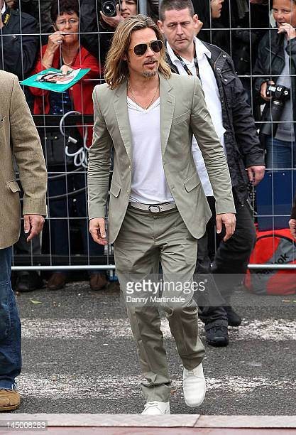 Brad Pitt attends the 65 Cannes Film Festival on May 22 2012 in Cannes France