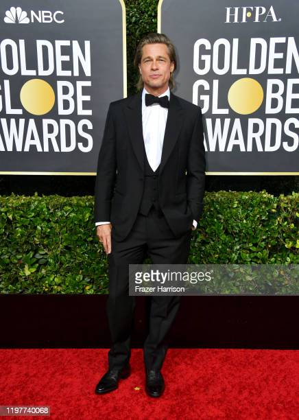 Brad Pitt attends the 77th Annual Golden Globe Awards at The Beverly Hilton Hotel on January 05 2020 in Beverly Hills California