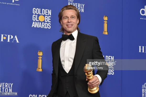 Brad Pitt attends The 77th Golden Globes Awards Press Room at The Beverly Hilton Hotel on January 05 2020 in Beverly Hills California