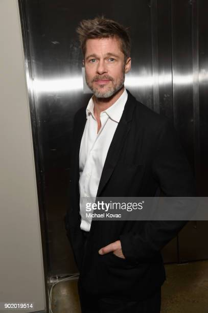 Brad Pitt attends the 7th Annual Sean Penn Friends HAITI RISING Gala benefiting J/P Haitian Relief Organization on January 6 2018 in Hollywood...
