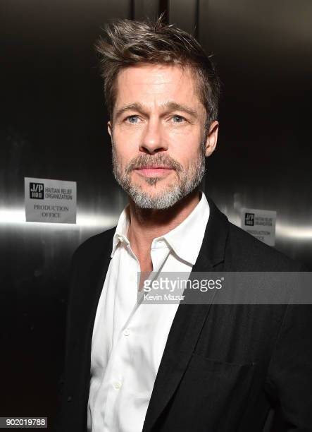 Brad Pitt attends the 7th Annual Sean Penn Friends HAITI RISING Gala benefiting J/P Haitian Relief Organization on January 6 2018 in Hollywood...