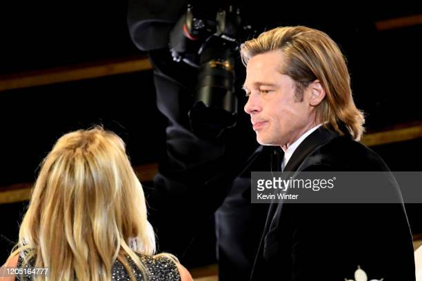 Brad Pitt attends the 92nd Annual Academy Awards at Hollywood and Highland on February 09 2020 in Hollywood California