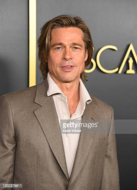 Brad Pitt attends the 92nd Oscars Nominees Luncheon on January 27 2020 in Hollywood California