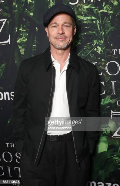Brad Pitt attends the Amazon Studios and Bleeker Street's Los Angeles Premiere Of James Gray's THE LOST CITY OF Z on April 5 2017 in Hollywood...