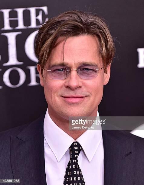 "Brad Pitt attends ""The Big Short"" New York Premiere at Ziegfeld Theater on November 23, 2015 in New York City."