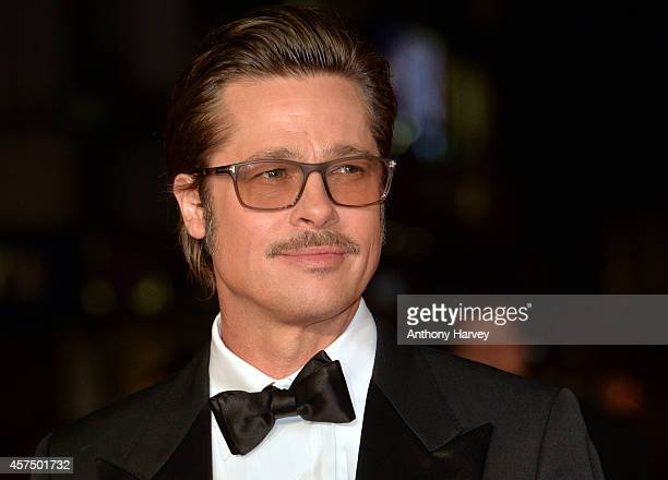 Brad Pitt attends the closing night European Premiere gala red carpet arrivals for 'Fury' during the 58th BFI London Film Festival at Odeon Leicester...