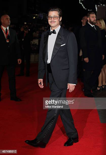 """Brad Pitt attends the closing night Gala screening of """"Fury"""" during the 58th BFI London Film Festival at Odeon Leicester Square on October 19, 2014..."""