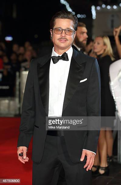Brad Pitt attends the closing night Gala screening of Fury during the 58th BFI London Film Festival at Odeon Leicester Square on October 19 2014 in...