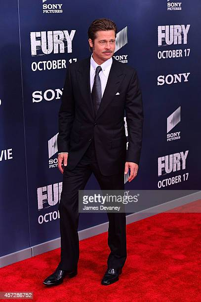 Brad Pitt attends the Fury Washington DC Premiere at The Newseum on October 15 2014 in Washington DC
