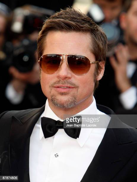 Brad Pitt attends the 'Inglourious Basterds' Premiere at the Grand Theatre Lumiere during the 62nd Annual Cannes Film Festival on May 20 2009 in...