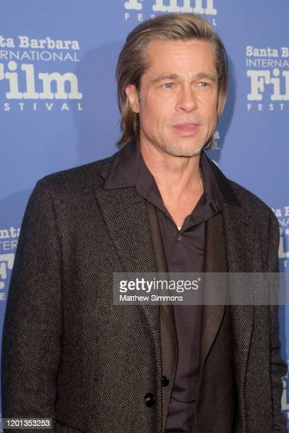 Brad Pitt attends the Maltin Modern Master Award Honoring Brad Pitt during the 35th Santa Barbara International Film Festival at the Arlington...