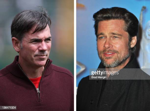 In this composite image a comparison has been made between Billy Beane and Actor Brad Pitt Oscar hype begins this week with the announcement of the...
