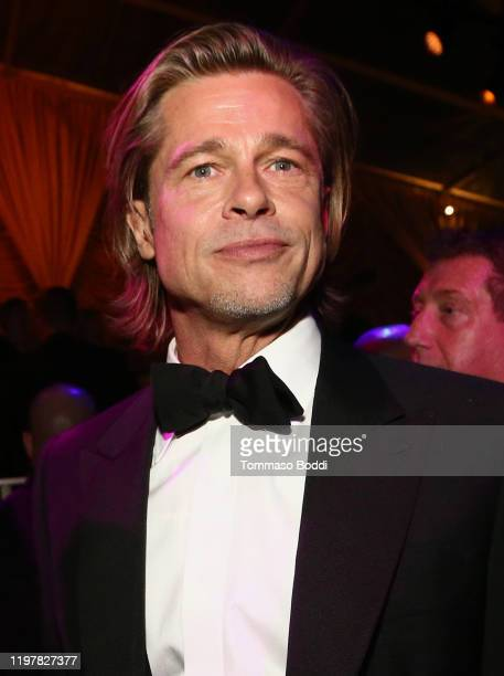 Brad Pitt attends the Netflix 2020 Golden Globes After Party on January 05, 2020 in Los Angeles, California.