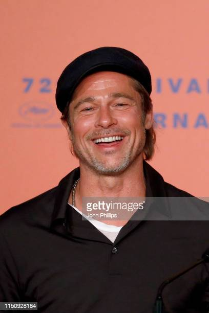 Brad Pitt attends the Once Upon A Time In Hollywood Press Conference during the 72nd annual Cannes Film Festival on May 22 2019 in Cannes France