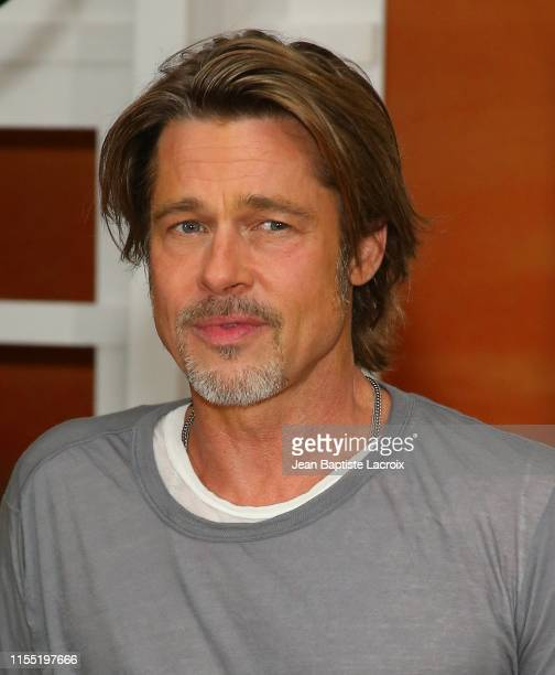 Brad Pitt attends the photo call for Columbia Pictures' Once Upon A Time In Hollywood at Four Seasons Hotel Los Angeles at Beverly Hills on July 11...