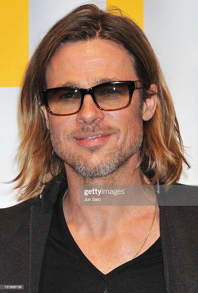 Brad Pitt attends the premier of 'Moneyball' at Tokyo International Forum on November 9, 2011 in Tokyo, Japan. The film will open on November 11 in Japan.