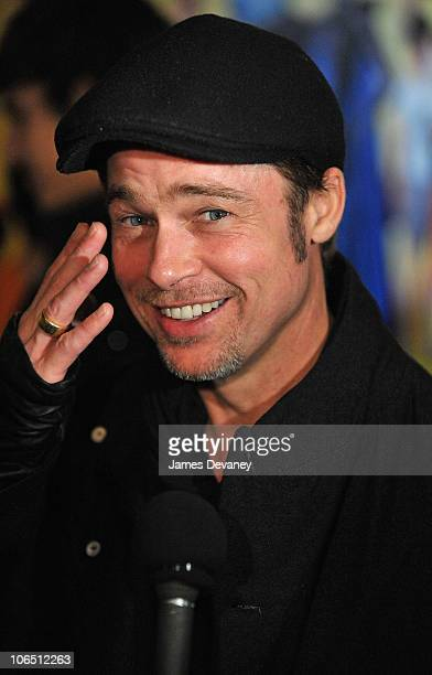 Brad Pitt attends the premiere of 'Megamind' at AMC Lincoln Square Theater on November 3 2010 in New York City