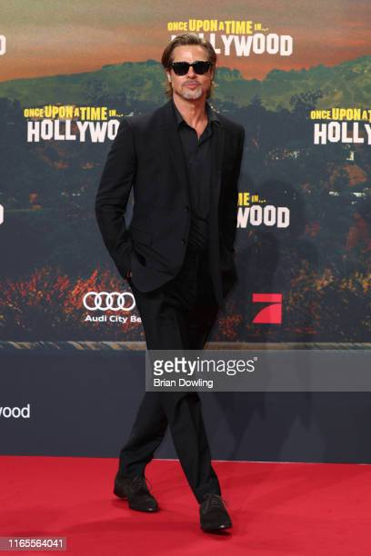 """Brad Pitt attends the premiere of """"Once Upon A Time... In Hollywood"""" at CineStar on August 01, 2019 in Berlin, Germany."""