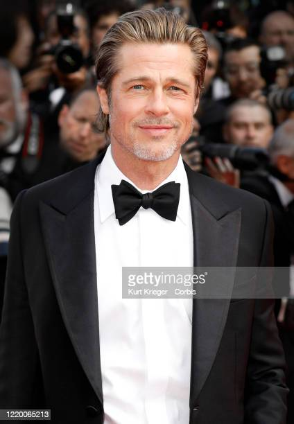 Brad Pitt attends the premiere of 'Once Upon A Time In Hollywood' during the 72nd Cannes Film Festival at the Palais des Festivals on May 21, 2019 in...