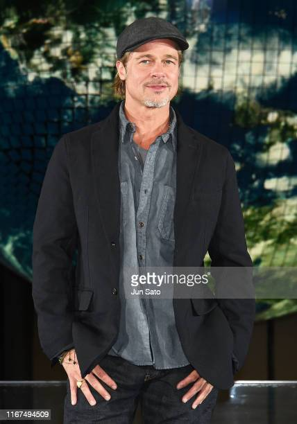 Brad Pitt attends the press conference for Japan premiere of 'Ad Astra' at National Museum of Emerging Science and Innovation Miraikan on September...