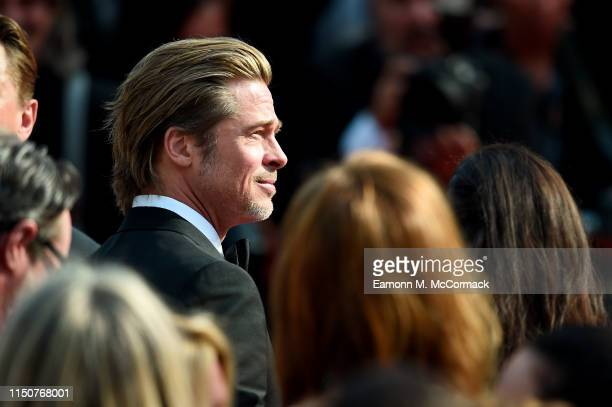 Brad Pitt attends the screening of Once Upon A Time In Hollywood during the 72nd annual Cannes Film Festival on May 21 2019 in Cannes France
