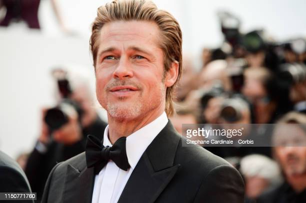 """Brad Pitt attends the screening of """"Once Upon A Time In Hollywood"""" during the 72nd annual Cannes Film Festival on May 21, 2019 in Cannes, France."""