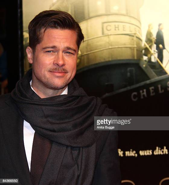 Brad Pitt attends the The Curious Case Of Benjamin Button Berlin Premiere on January 19 2009 in Berlin Germany