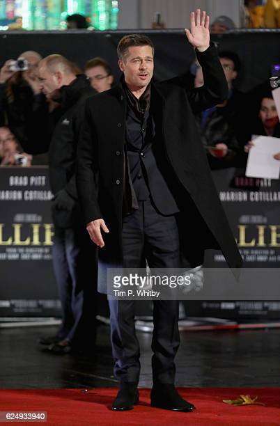 Brad Pitt attends the UK Premiere of Allied at Odeon Leicester Square on November 21 2016 in London England