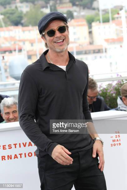 """Brad Pitt attends thephotocall for """"Once Upon A Time In Hollywood"""" during the 72nd annual Cannes Film Festival on May 22, 2019 in Cannes, France."""