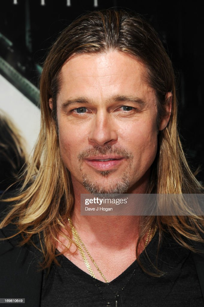 Brad Pitt attends world premiere of World War Z at the Empire Leicester Square on June 2, 2013 in London, England.