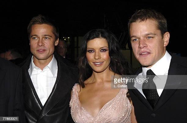 Brad Pitt Catherine ZetaJones and Matt Damon