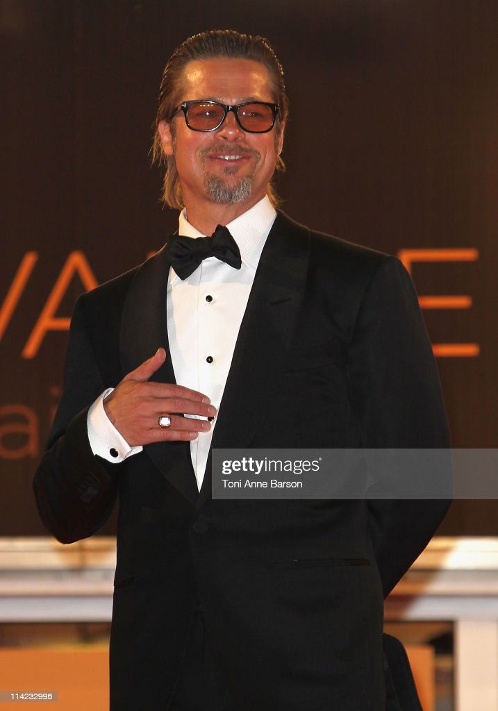 Brad Pitt departs 'The Tree Of Life' Premiere during the 64th Annual Cannes Film Festival at Palais des Festivals on May 16, 2011 in Cannes, France.