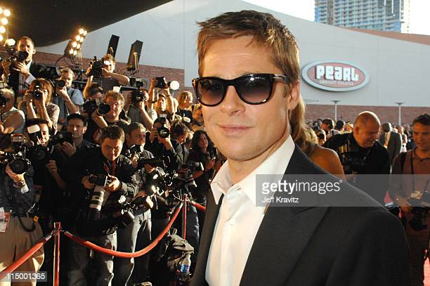 Brad Pitt during CineVegas Film Festival Opening Night Screening of Ocean's Thirteen Red Carpet at Palms Casino Resort in Las Vegas Nevada United...