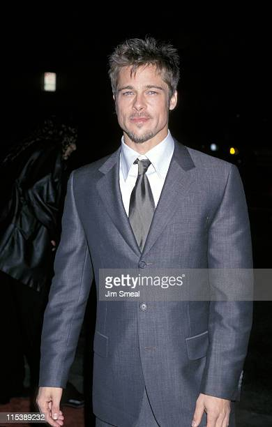"""Brad Pitt during """"Meet Joe Black"""" Beverly Hills Premiere at Academy Theater in Beverly Hills, California, United States."""
