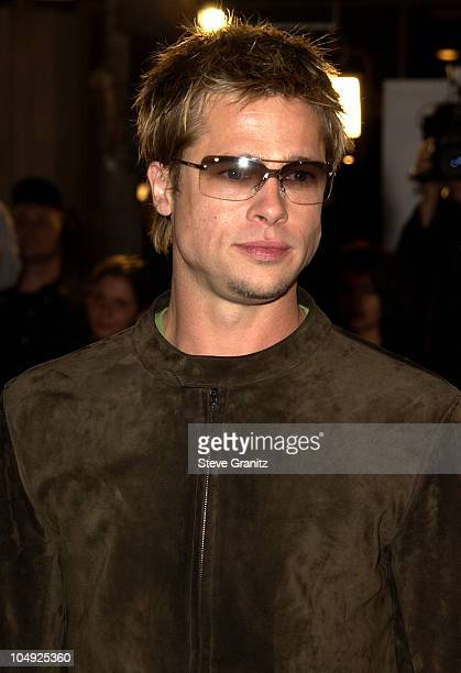 Brad Pitt during Spy Game Premiere at Mann National Theatre in Westwood California United States