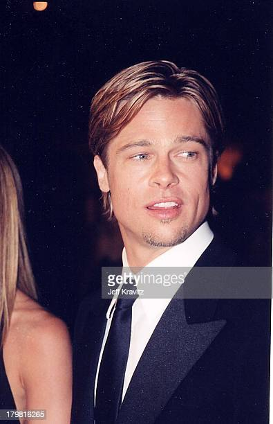 Brad Pitt during The 72nd Annual Academy Awards Vanity Fair Party at Morton's in Los Angeles California United States
